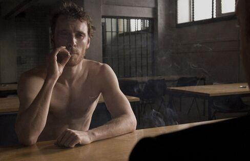 "Fassbender as Bobby Sands in ""Hunger"""