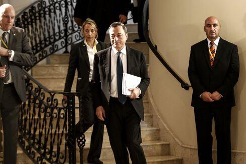European Central Bank President Mario Draghi News Conference