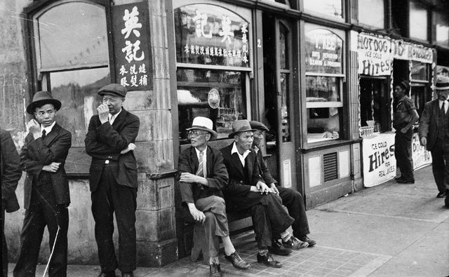 Sam Kee Building, 8 West Pender, Chinatown, Vancouver, B.C, 1936