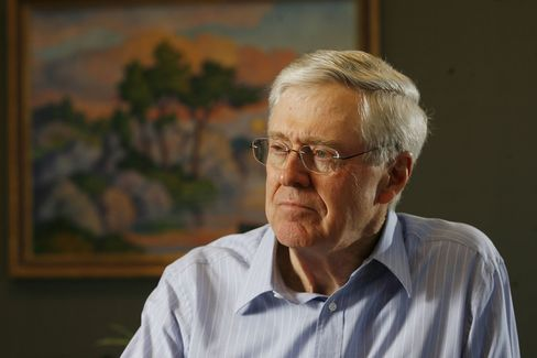 Charles Koch photographed in 2007.