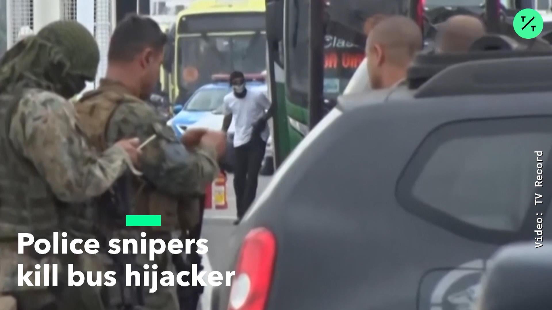 Snipers Shoot Buss Hijacker