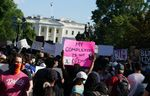 Demonstrators protesting the death of George Floyd near the White House on May 31.