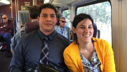 Erica Luna and Jesse Moncayo