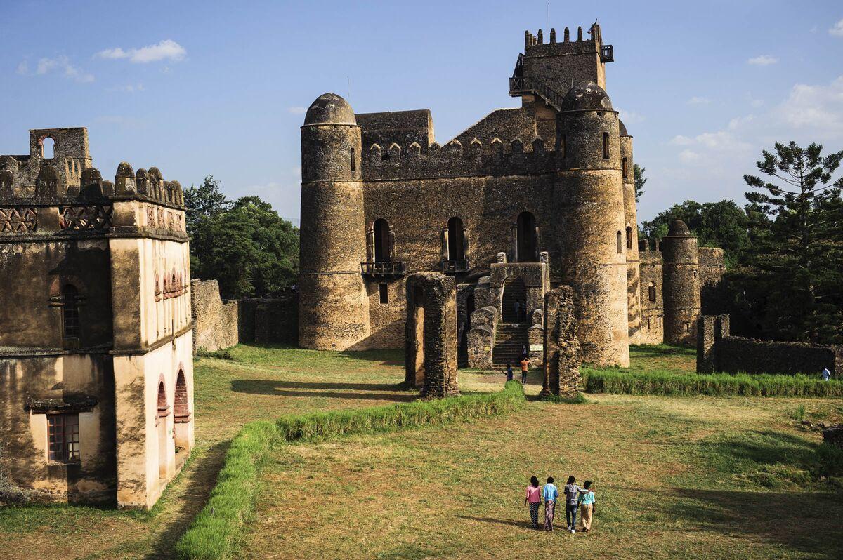 Fasilades Castle, Fasil Ghebbi Gonder, Ethiopia