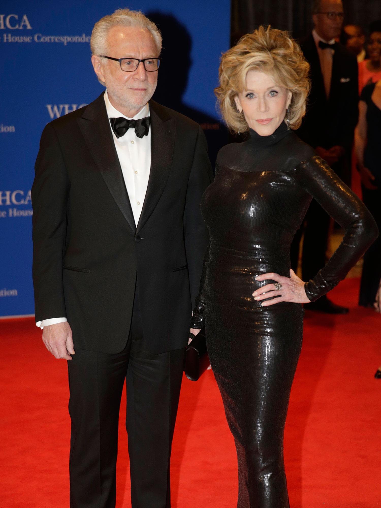Wolf Blitzer and Jane Fonda
