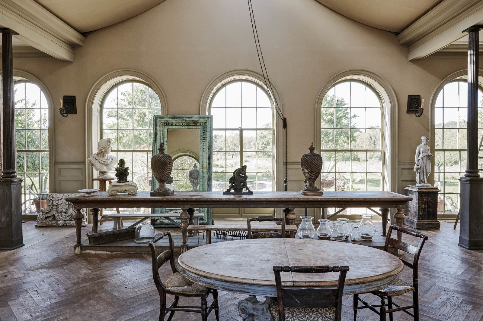 The dining room of Andrea Filippone and Eric Fleisher