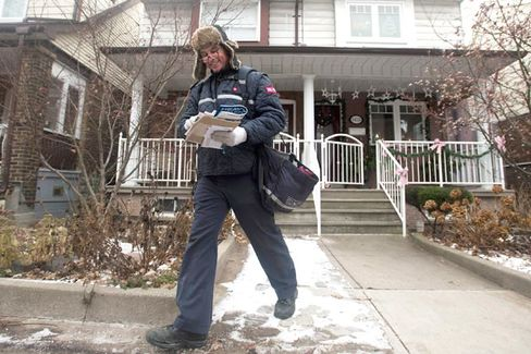 The Unstoppable Postal-Service Retreat Starts in Canada
