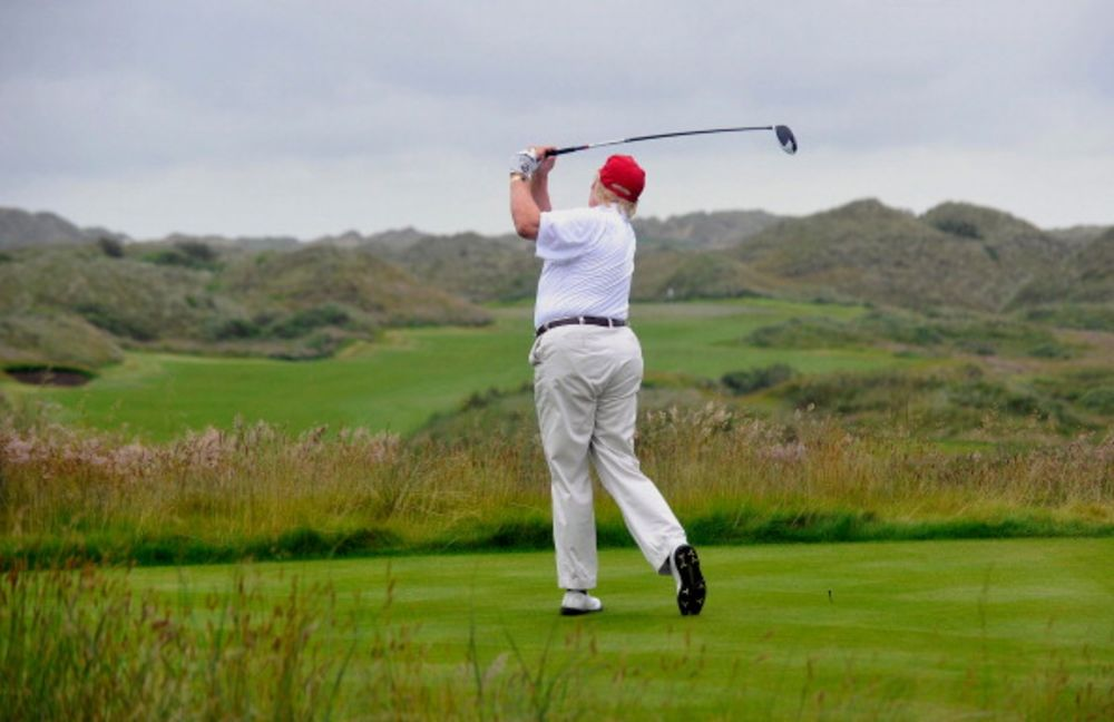 Trump's Golf Misadventure in the Scottish Dunes