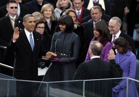 Obama Takes Oath Before Flag-Waving Crowd With Beyonce as Closer