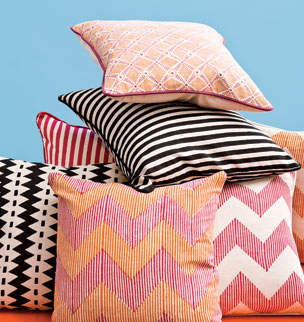 Pillows are among the self-branded items Fab is rolling out