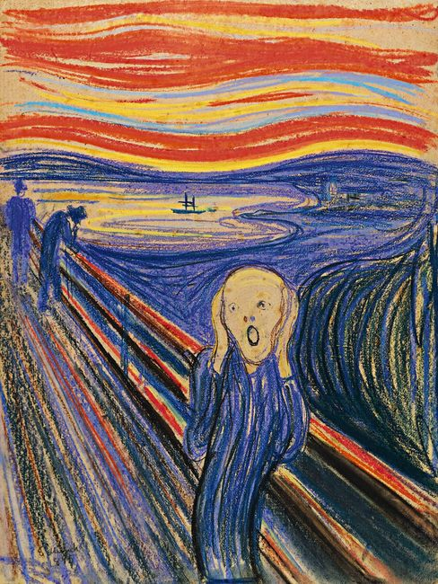 """The Scream"" (1895) by Edvard Munch."