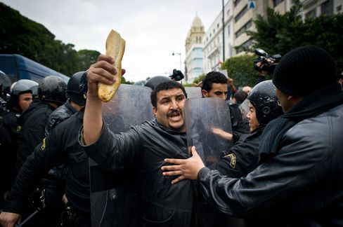 North African Unrest May Spread on Record Food Prices