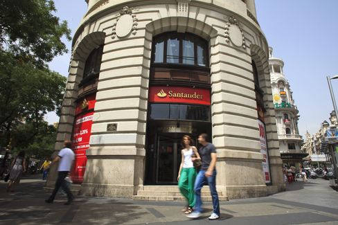 Santander Profit Slumps on Jump in Spanish Loan Provisions