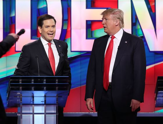 Trump Backs Rubio forSenate Re-Election After Mocking Him in 2016