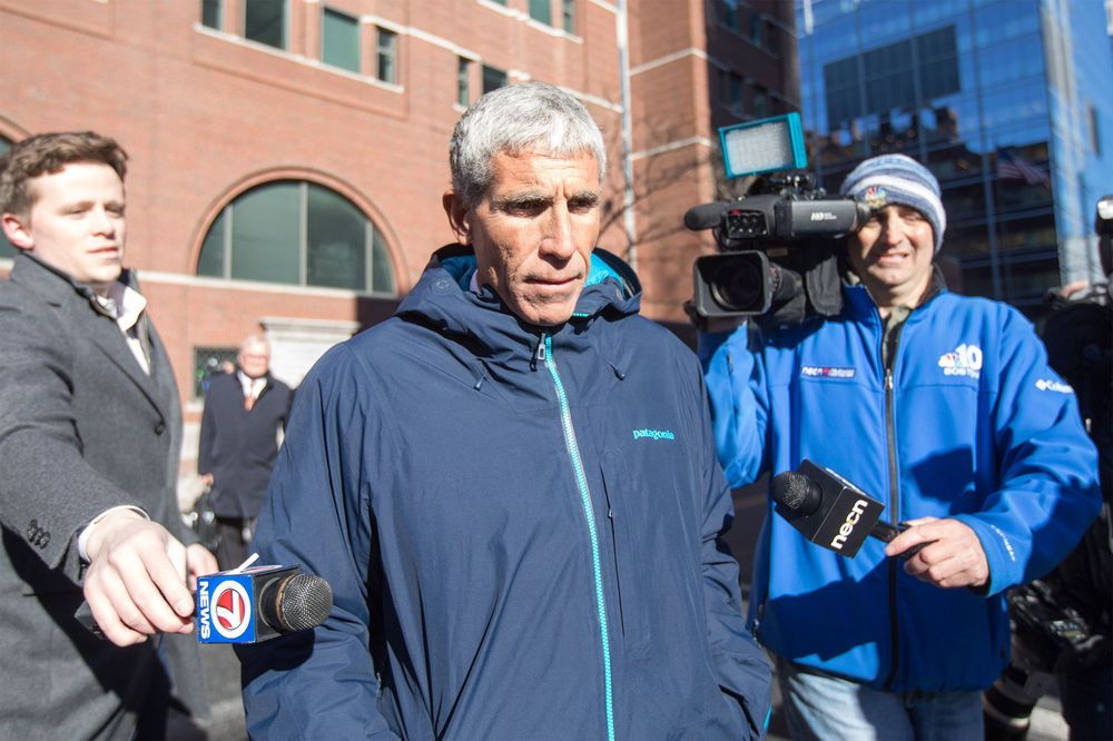 William Rick Singer leaves Boston Federal Court in Boston, Mass. on March 12. Singer is among several charged in alleged college admissions scam.