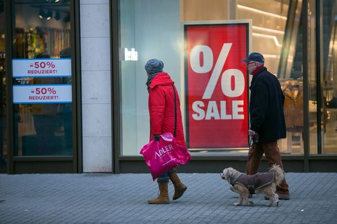German Inflation Rate Turns Negative for First Time Since 2009