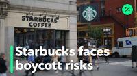relates to Starbucks faces boycott risks