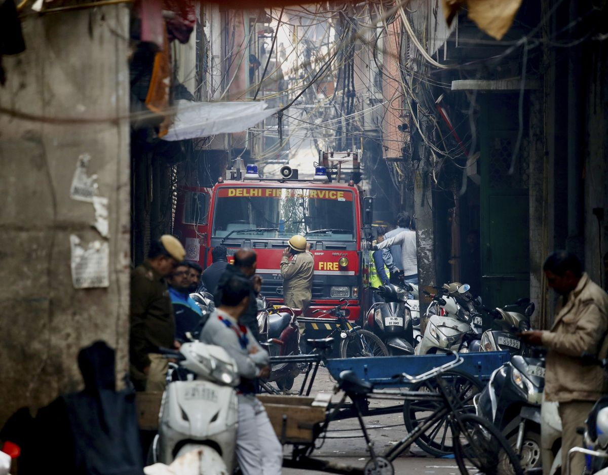 At Least 43 People Die in New Delhi Factory Fire