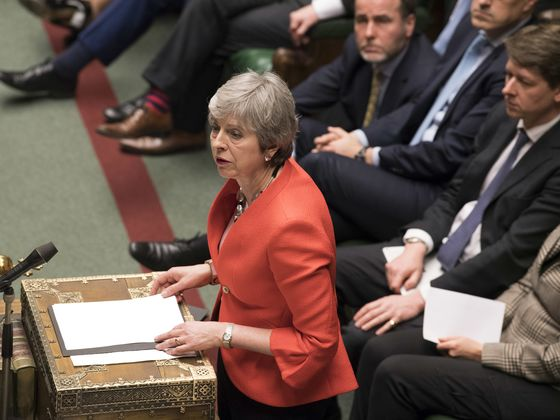 U.K. Weighs No-Deal Brexit Vote as May Is Thrown Into Crisis