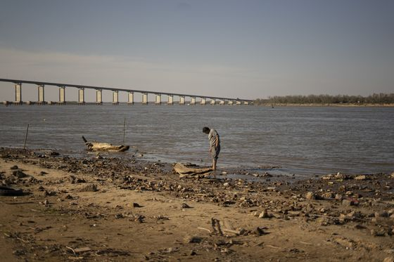 The Argentine River That Carries Soybeans to World Is Drying Up