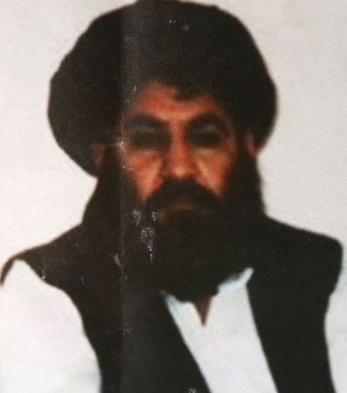 File photo of Taliban leader Mullah Mansour.
