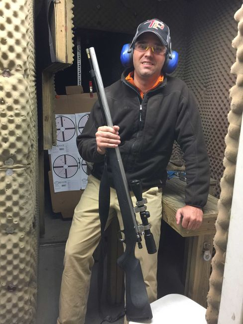 Donald Trump, Jr. at a shooting range in Iowa in January 2016.