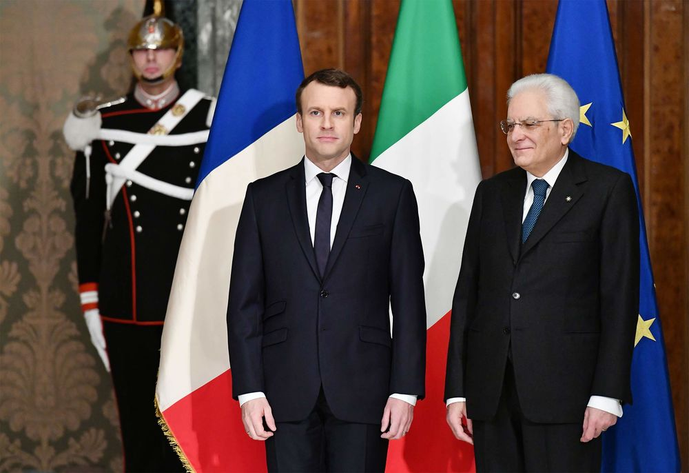 France's Macron Speaks With Italy's Mattarella to Defuse Dispute - Bloomberg