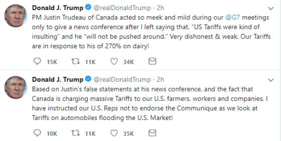 Two Tweets and an Insult Spoil G-7 Unity