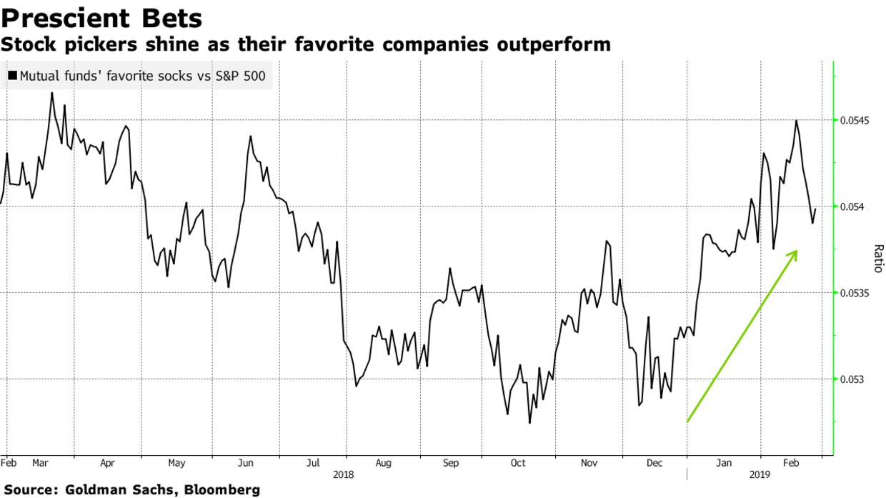Stock pickers shine as their favorite companies outperform