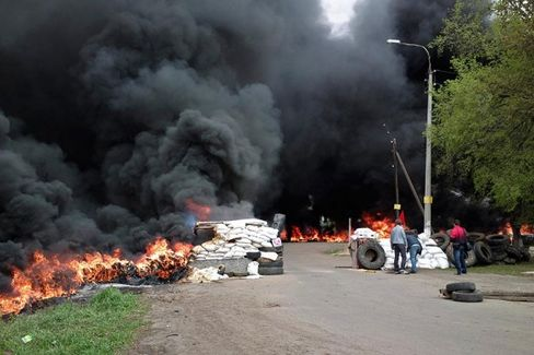 Ukrainian Forces Attack City Held by Pro-Russian Militants