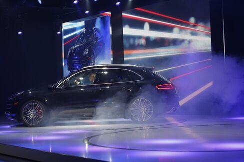 Porsche CEO at Macan World Premiere