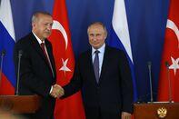 Russian President Vladimir Putin and Turkish President Recep Tayyip Erdogan visit the MAKS 2019 International Aviation and Space Show