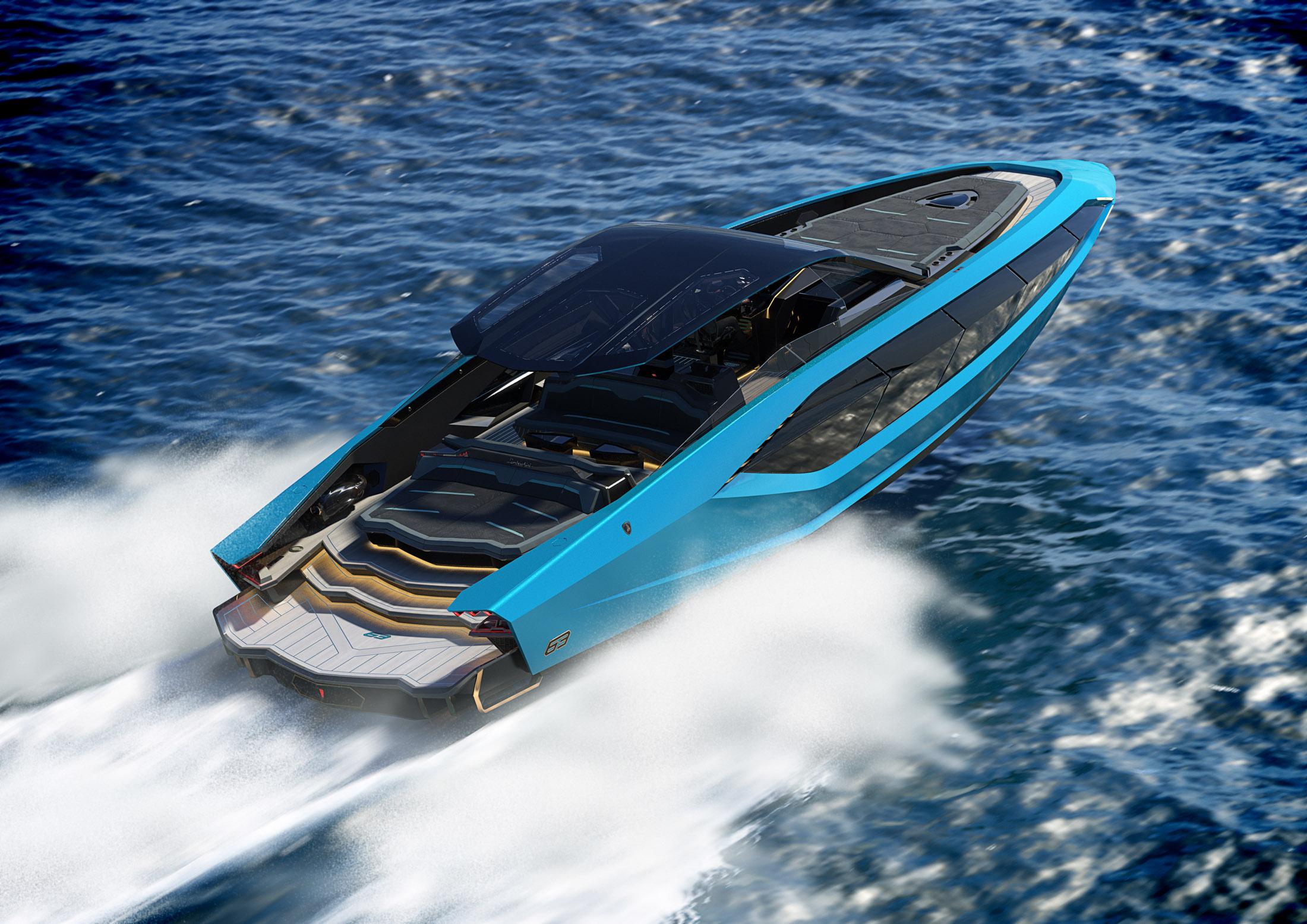 Lamborghini's New $3.4 Million Yacht Has Splashy Supercar DNA - Bloomberg