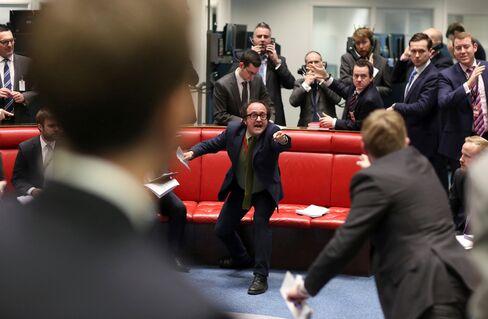 Traders On The Floor Of The London Metal Exchange
