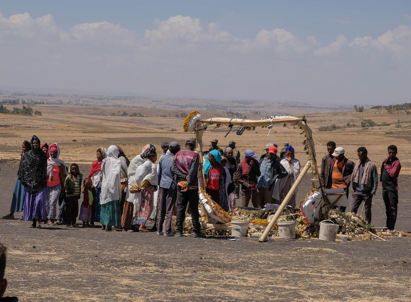 Villagers Attend Mourning Ritual Tulluferra At The Site Of The Ethiopian Airlines Crash