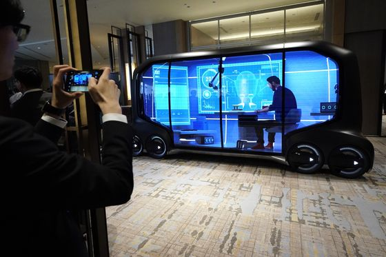 Toyota Driverless Shuttles May Double as 'Office-on-the-Go'