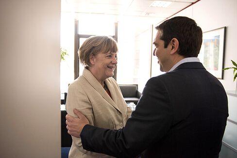 Chancellor Merkel and Prime Minister Tsipras