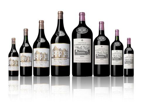 Wines from Château Haut Brion (left) and La Mission Haut Brion.