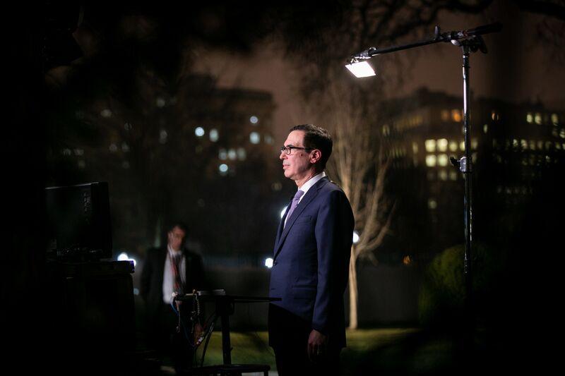 U.S. Treasury Secretary Steven Mnuchin Speaks At White House