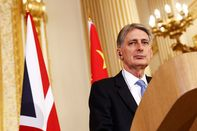U.K. Chancellor Of The Exchequer Philip Hammond Holds Talks With China Seeking Investment Following Brexit