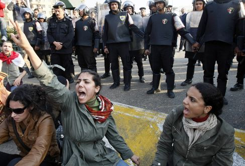 Egypt Protests Leave 3 Dead; Cairo Rally Broken Up