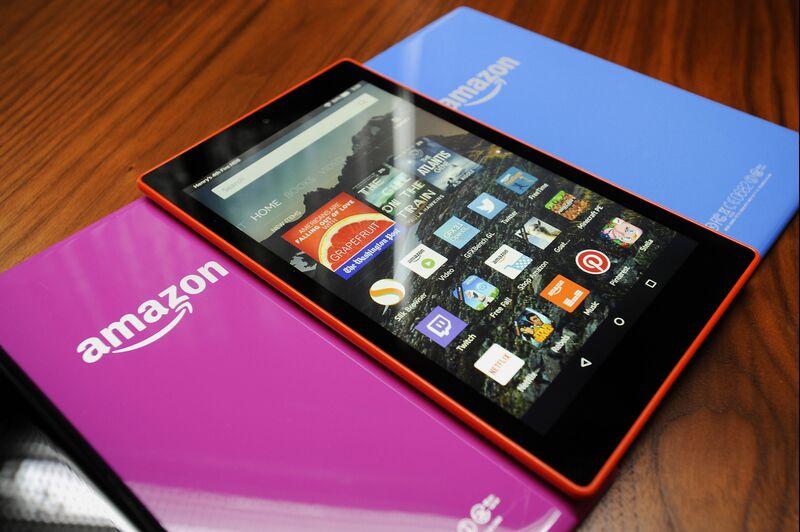 An Amazon Fire HD 8 tabletPhotographer: Michael Short/Bloomberg