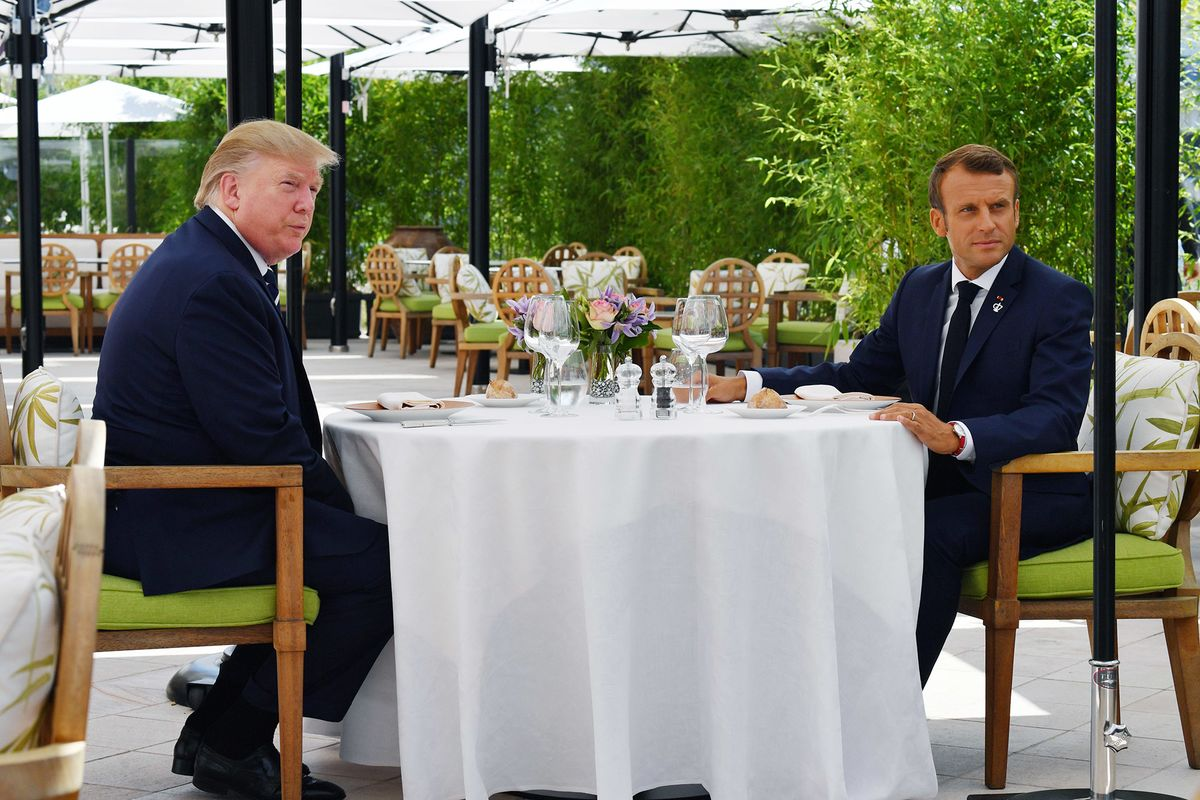 U.S. Thinks Macron Twisting G-7 to Hurt Trump, Win Favor at Home