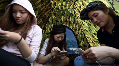 Mobile Use at Hong Kong Protests
