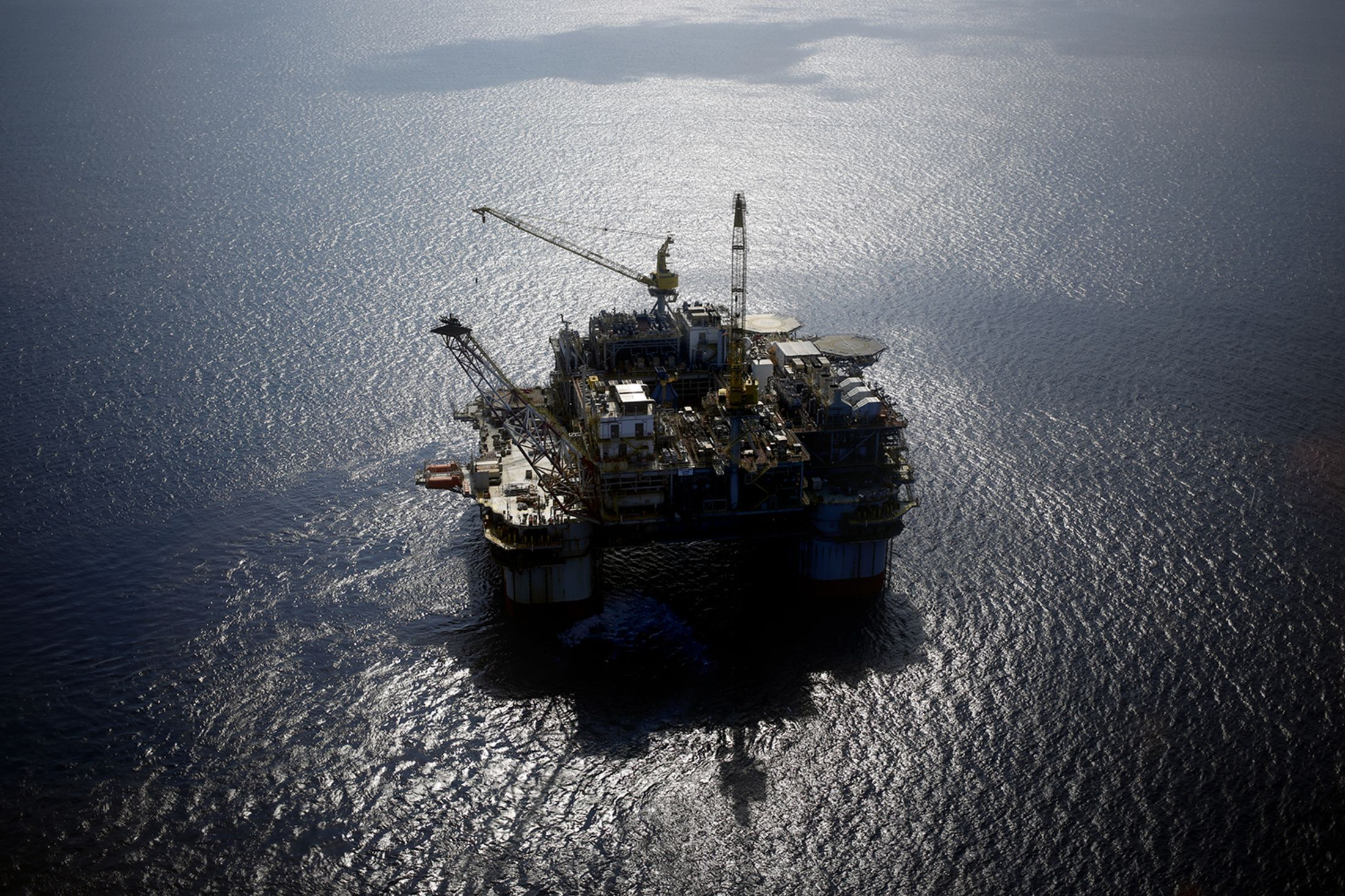 A deepwater oil platform in the Gulf of Mexico.