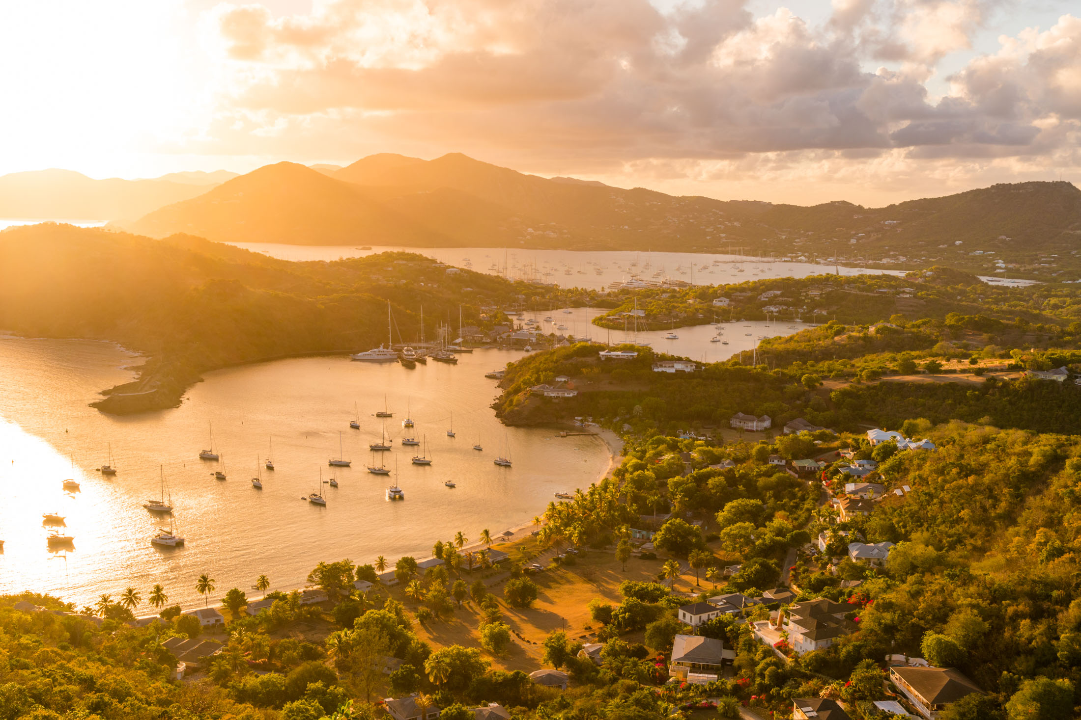 Sunset over English Harbour, Antigua.