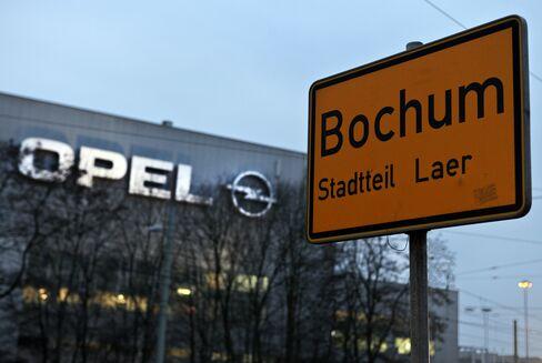 The Adam Opel AG Auto Plant In Bochum