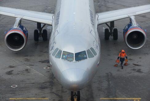 OAO Aeroflot Passenger Planes At Sheremetyevo Airport