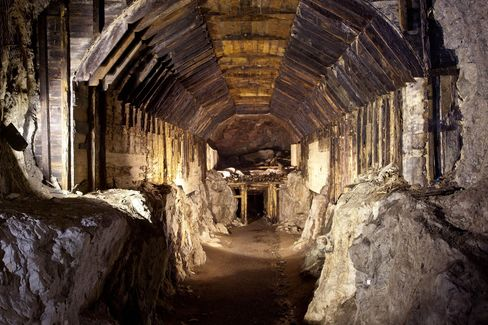 This file photo shows part of a subterranean system built by Nazi Germany in what is today Gluszyca-Osowka, Poland.