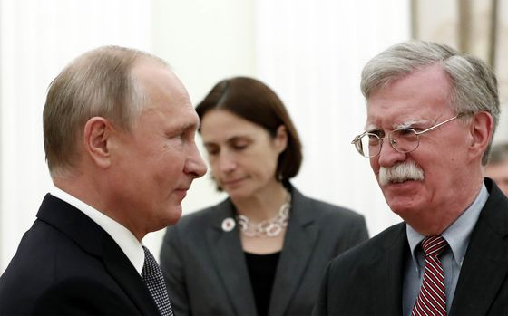 Bolton Says Trump and Putin Will Meet in Paris Next Month